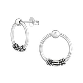 zilveren Bali oorbellen
