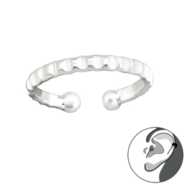 zilveren oorring helix ear cuff fake piercing