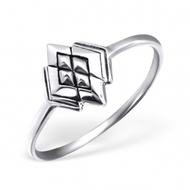 zilveren dames ring abstract diamand