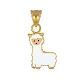 zilveren gold plated Alpaca kettinghanger