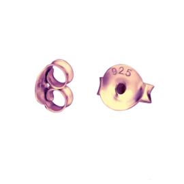 sterling zilveren rose gouden oorbel achterkantjes