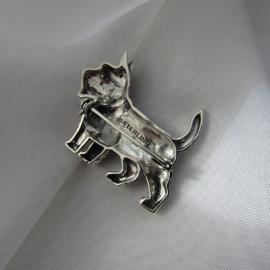 Sterling zilveren Terrier hond broche
