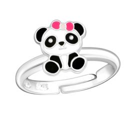 zilveren panda kinderring