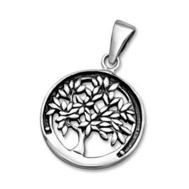 zilveren levensboom kettinghanger