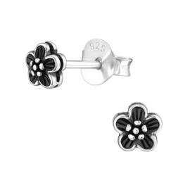 zilveren bloem oorknopjes