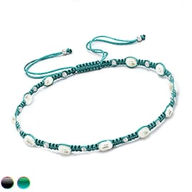 braided bracelet with pearls