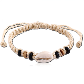 Kauri schelp gevlochten armband