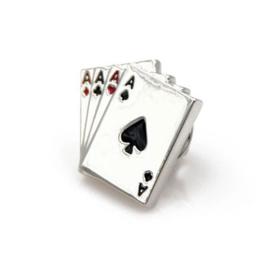 Poker kaarten broche
