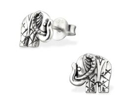 zilveren Bali olifant oorbellen
