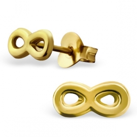 silver gold plated infinity earrings