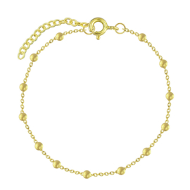 zilveren gold plated bolletjes armband