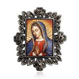 Sterling zilveren Maria broche