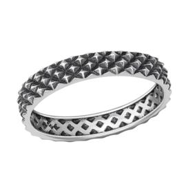 zilveren spikes Bali ring