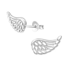 zilveren engelen vleugels oorbellen