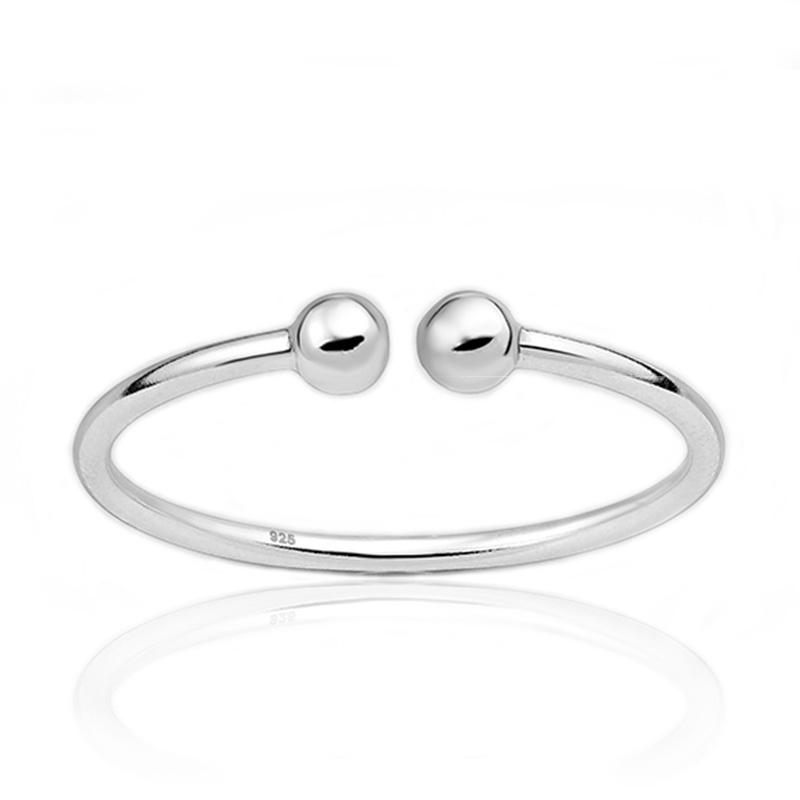 Zilveren piercing ring