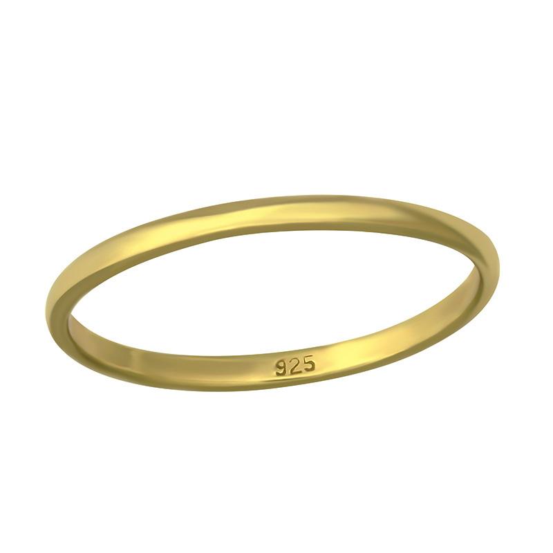 Zilveren eenvoudige ring verguld