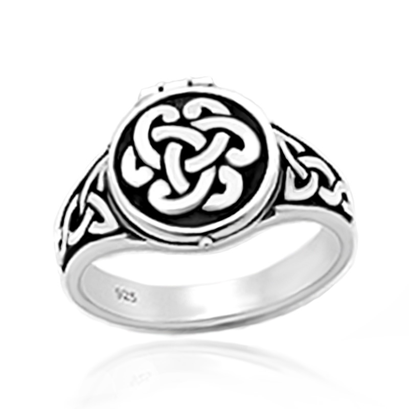 Zilveren Keltische locket ring