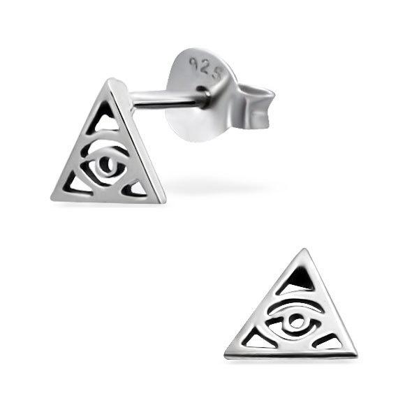 zilveren illuminati oorbellen