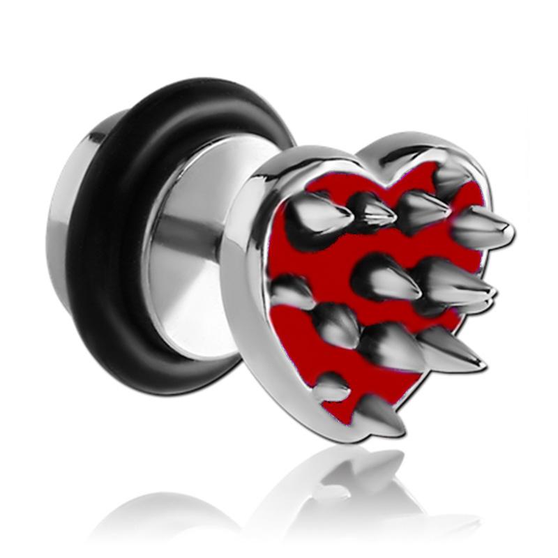 10mm Men/'s Women/'s Stainless Steel Stud Earrings Tunnel Spike Screw Black