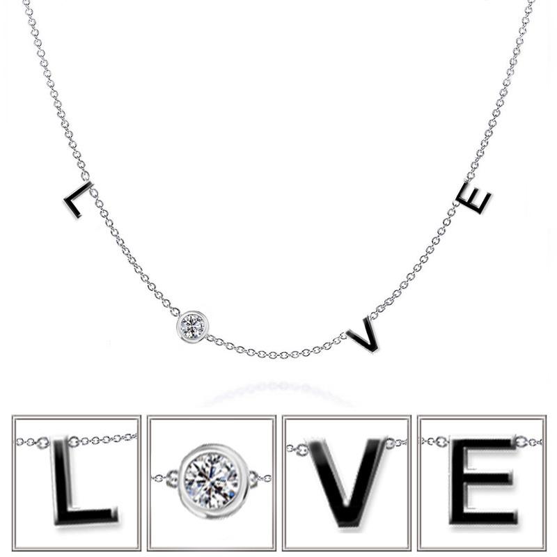 Zilveren Liefde Love Tekst Ketting Kettingen Goudkat