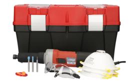 Stayer HF74 Houtrot Freesmachine complete set met 3 soorten frezen in koffer