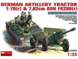 German Artillery Tractor & 7.62 Gun w/crew