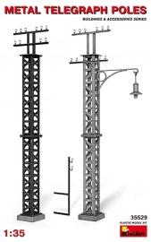 Metalen Telegraaf palen