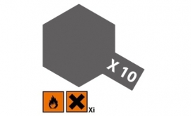 Gun metal glanzend X10