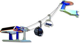 Kabelbaan Omloop Oranje/Blauw 1:32