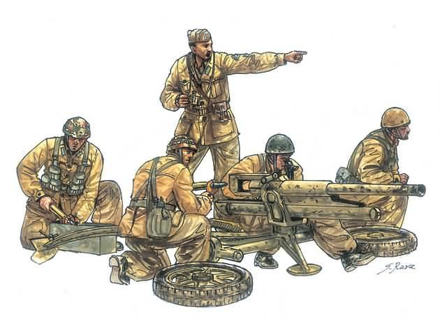 PAK 97/38 Gun met figuren