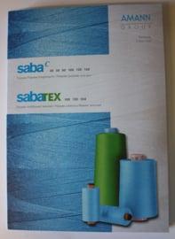 Saba C Kleurkaart (Garen 30 t/m 150)