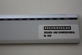 Roestvrijstalen liniaal met afsnijdkant (1 meter)