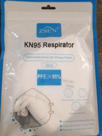 Mondmasker KN95 ffp2 (per 5 stuks)