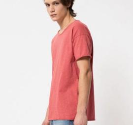 Nudie Jeans || ROGER slub tshirt: dusty red