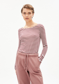 Armed Angels || EVVAA STRIPES: ruby red-oatmilk