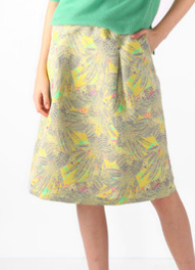 Nathalie Vleeschouwer || OLWIN skirt: birds yellow