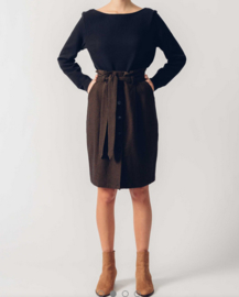 SKFK || IZADI skirt organic cotton: black brown
