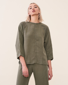 Elvine || ALINE shirt: dark sage