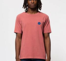 Nudie Jeans || UNO njco circle tshirt: dusty red-ALLEEN XS BESCHIKBAAR-