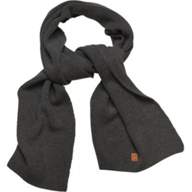 KCA || ribbing scarf cotton: dark grey melange