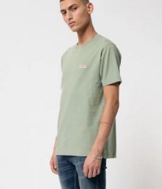 Nudie Jeans || DANIEL logo tshirt: pale green