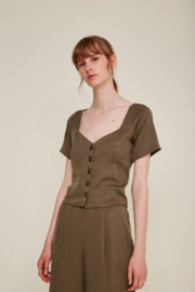 Rita Row || CHIARA blouse tencel: khaki