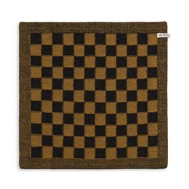 Knit factory || keukendoek block: zwart oker