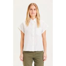 KCA || ASTER blouse: Bright white -ALLEEN NOG S BESCHIKBAAR-