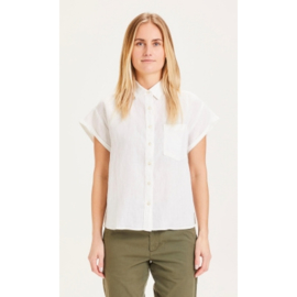KCA || ASTER blouse: Bright white