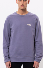 Nudie Jeans || SAMUEL logo sweat: lilac