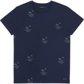 Tee MOON; Navy