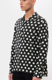 Nudie Jeans || VIDAR blouse: dots black