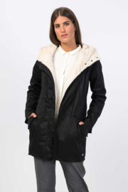 SKFK || OSMA coat cotton: black