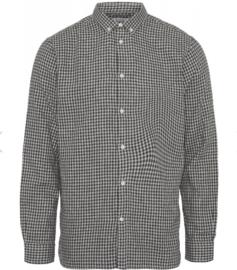 KCA || LARCH shirt double layer: check dark grey melange